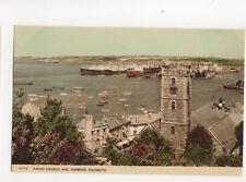 Parish Church & Harbour Falmouth Vintage Postcard 154b