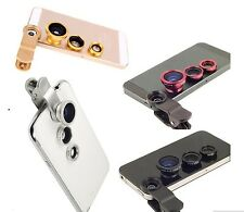 Fish Eye,Wide Angle+Macro 3/1 Clip On Lens For All iPhones,Samsung,HTC,4 Colours