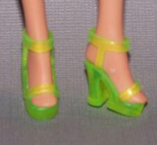 Barbie Doll Shoes Fashionista Translucent Platform Sandals Heels