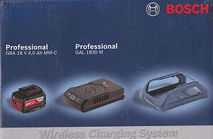 Bosch Set WIRELESS batteria 18V 4 Ah + CARICABATTERIE WIRELESS GAL 1830 W