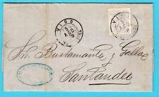 SPAIN entire 1879 Vigo to Santander