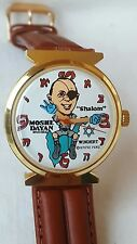 Vintage wind up Moshe Dayan political character watch 1970 Windert Dirty Time