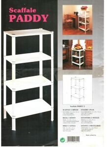Thermpoplastic Shelf PADDY 4 Shelves 37x54x127 100% Recyclable Made IN Italy
