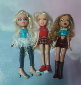 3x Bratz Dolls mga 2001 2015 With Outfits 2x Vintage