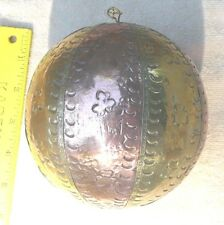 Brass & copper ball ornament decor yard art
