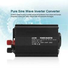 Pure Sine Wave Power Inverter 600W DC 12V To 220V Converter Overload Protector