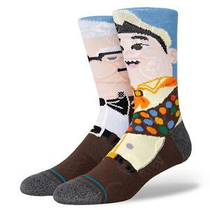Stance x Up Wilderness Explorer Carl Russell Socks Large Men's 9-13 Disney Pixar