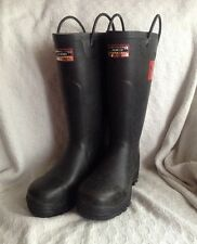 FIREFIGHTER 4000 Supersafety Black Rubber, ,Wellington Boots,Steel Toecap,UK 4