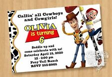 10 Jessie Andy TOY STORY Twins Birthday Party Invitations Cowboy Cowgirl CUTE