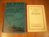 2 Lot Will Rogers 1930 and 1935 Ambassador of Good Will & Wit Radio Tales 25-3F