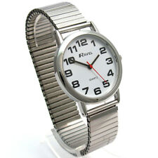 Ravel Gents Super-Clear Quartz Watch with Expanding Bracelet sil #05 R0208.02.1s