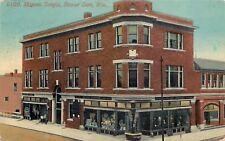 Beaver Dam WI~Masonic Temple~Peter Pfeffer Window Display~Clothing Store~1914