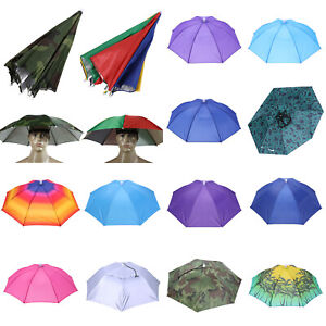 Frienda 8 St/ücke Regenbogen Regenschirm Hut Regenschirm Sonnenhut Verstellbare Regenschirm H/üte f/ür Erwachsene Kinder Outdoor Angeln Garten Camping