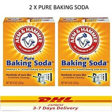 2 Box Pure Baking Soda arm&hammer Scratchless Cleaning 227g ~ FREE SHIPPING