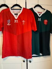 2019 World Cup Wales Shirts Home & Away Large
