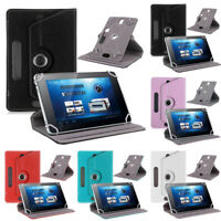"360° Leather Case Cover Skin For Universal Android Tablet PC 7"" 8"" 9"" 10"" Inch S"