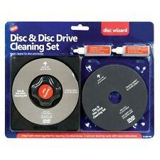 SET KIT PULISCI CD E LENTE RIMUOVI POLVERE PER CD DVD PS3 PS4 XBOX WII COMPUTER