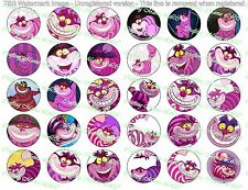 "30 Precut 1"" Cheshire Cat Bottle cap Images Set 1"