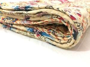 Kantha Quilt Reversible Bedding Gudri Gudari Bedcover Ralli Bedspread
