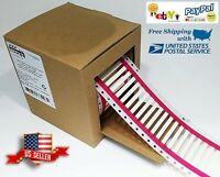 Heat Shrink Labels Tube White 2000 Printable Labels For 18 - 22 AWG 5mm x 29mm