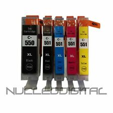 5 cartuchos tinta compatible NONOEM PGI-550 CLI-551 Canon PIXMA MG 6650MG6550