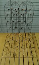 Factory Second - Set of 5 x Leaf Design Metal Trellis (120cm x 50cm)