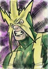Marvel Masterpieces 2016 Sketch Card - GEANNES HOLLAND - ELEKTRO
