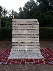 Moroccan Rug Beni Ourain Carpet Kilim  Berber Handmade Woven Atlas Wool New