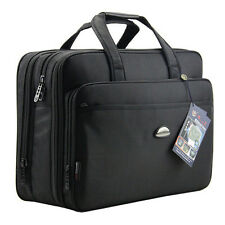 "X Large 17"" Laptop Notebook Shoulder Bag Messenger School Briefcase Satchel New"