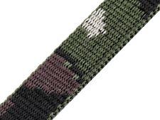 10m Gurtband Camouflage 20 mm Taschengurt Hundeleine Tragegurt