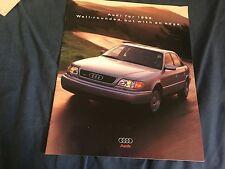 1997 Audi A4 A6 Quattro USA Mareket Color Brochure Prospekt