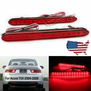 LED Rear Bumper Reflector Brake Light For Acura TSX 2004 2005 2006 2007 2008 USA