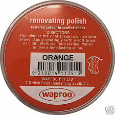 SHOE POLISH CREAM - WAPROO RESTORE COLOR OVER -FAST DISPATCH - AU SELLER