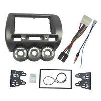 2 Din Radio Fascia for Honda Jazz Stereo Panel Dash Installation Trim Kit Facia