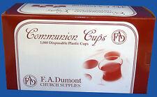 Plastic Disposable Communion Cups Box of 1000