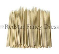 """100 x 25cm Value Pack Bambù Spiedini in legno per Barbecue Cibo Festa """"AL CIOCCOLATO"""