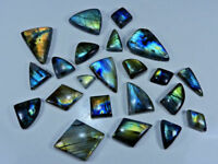 Natural Multi Flash Labradorite Fancy Cabochon 17Pcs Loose Gemstone Lot 500Crt