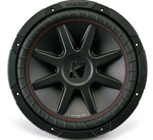 Kicker CompVR 12 Inch Subwoofer with Dual 4 Ohm Voice Coils *43CVR124