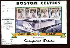 Novrember 3 1995 Boston Celtics Ticket Stub1st Game Ever Fleet Center Exmt