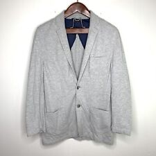 Fossil Medium Gray Cotton Casual Soft Sport Coat Jacket 2 Button Blazer