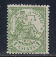 ESPAÑA (1874) NUEVO SIN GOMA - EDIFIL 150 (1 pts) ALEGORIA DE LA JUSTICIA LOTE 1