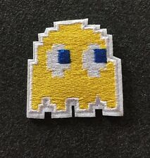 """High Quality Yellow Ghost Pac-Man Iron/Sew On Embroidered Patch (1.75"""")"""