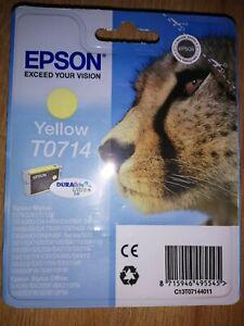 GENUINE EPSON T0714 TO714 yellow cartridge NEW ORIGINAL OEM CHEETAH Printer ink