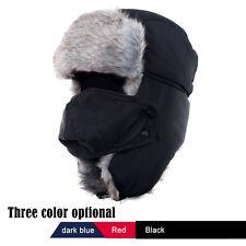 Trapper Bomber Warm Russian Trooper Fur Earflap Winter Ski Hat Men Women Cap NEW
