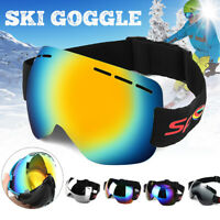Anti-fog UV Skiing Snowboard Adult Goggles Ski Sunglasses Winter Snow Glasses AB
