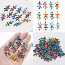 Wholesale 10Pcs Mixed Gecko Beads Connector Charm Fit DIY Jewelry Making Crafts