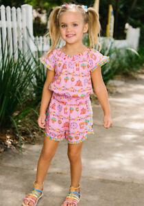 NWT Girls Matilda Jane lets go together Carnival Fun Romper size 16 NEW