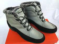 Weatherproof Linda Silver Faux Fur Lined Water Resistant Winter Boots Women's 10