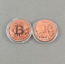 6PCS Solid Copper Commemorative Bitcoin Collectible Golden Iron Miner Coin XN08