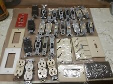 Lot Of 34 Electrical Outlets Switches Single Toggle Plates Leviton Eagle More